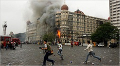 the final day at Mumbai, with the Taj hotel burning