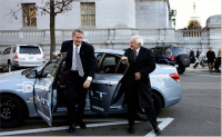 automakers arrive in washington